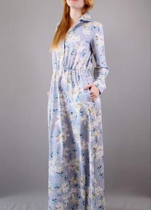 Платье-рубаха макси
