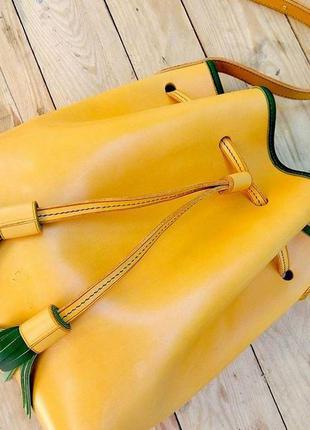 b597e010b6ba Кожаная сумка bucket bag ручной работы! / женская сумочка шоппер ...