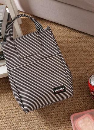Поделиться:  сумка, термосумка для ланчей sanne. черная полоска