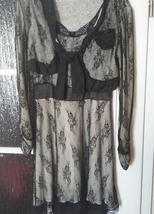Платье и болеро с кружевом rinascimento осень/зима