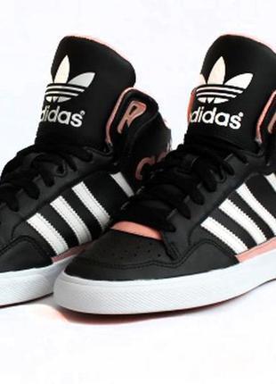 Кожаные хайтопы adidas. стелька 24 см