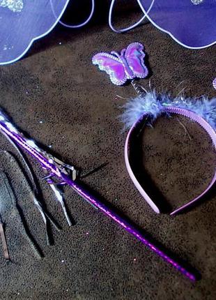 Набор маскарадный костюм бабочка фея новый4