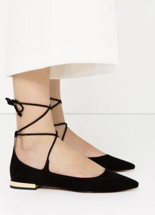 Туфли на низком ходу zara