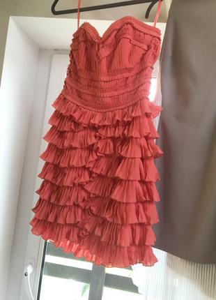 Коктейльное платье бюстье