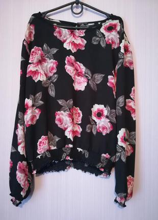Шифоновая рубашка с розами от atmosphere