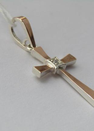 Серебряный крест с золотыми пластинами