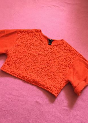 Кроп топ свитер короткий