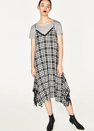 Zara платье с кружевом, s
