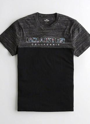 Футболка hollister colorblock graphic tee