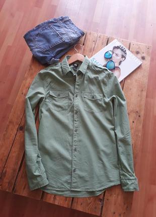 Рубашка цвета хаки h&m