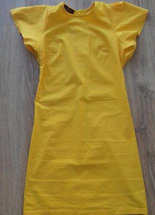 Мини платье с пышным рукавчиком