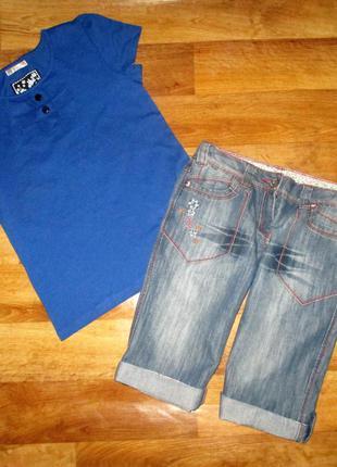 Летний комплект: яркая футболка и стильные шорты next, рост 152-158 см