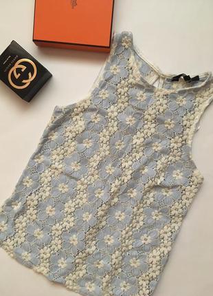 Кружевная блуза топ