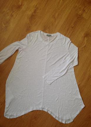 Белоснежная хлопковая кофточка блуза 18/462 фото