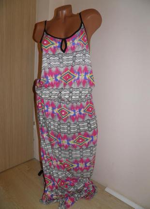 F&f-длинное летнее платье-сарафан(на высоких!!)