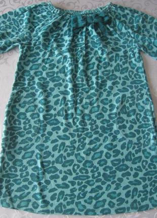 Леопардовое платье-туника gymboree 5-6 лет