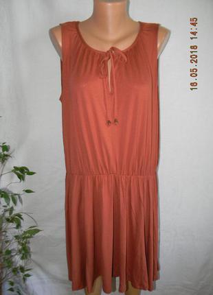 Новое трикотажное платье большого размера f&f
