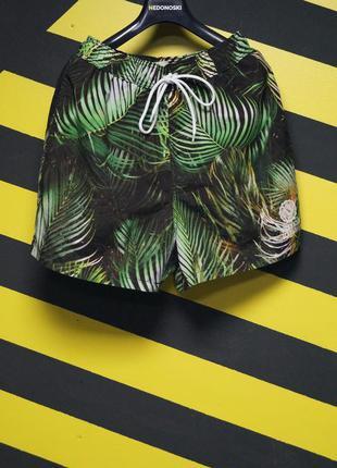 Пляжные шорты в тропический принт (franklin marshall)