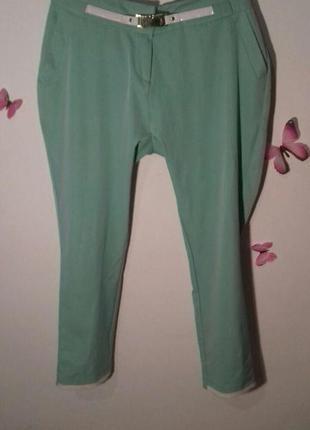 Летнее бирюзовые брюки