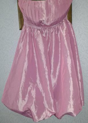 Чудесное платье бюстье цвета розовый металлик