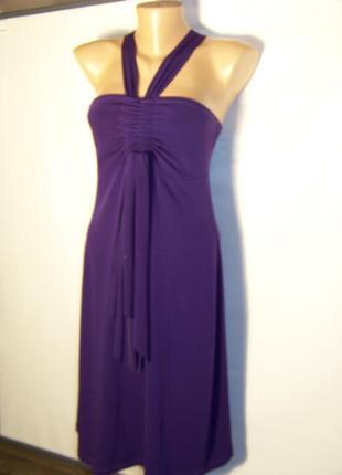 Продажа-обмен сливовое турецкое нарядное платье с бретелей-петлей dolce vita
