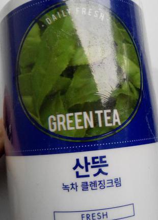 Очищающий крем с экстрактом зеленого чая1 фото