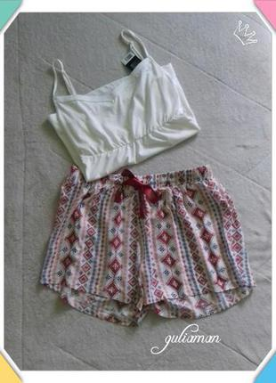 New!!! 2in1 шорты + майка от esmara l/xl пижама, домашний костюм