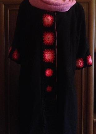 Пальто из искусственного замша