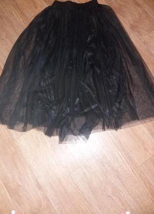 Черная фатиновая юбка