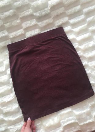 Базовая юбка цвета марсала