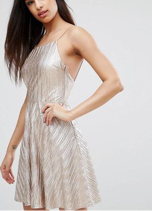 Club l  короткое золотое платье