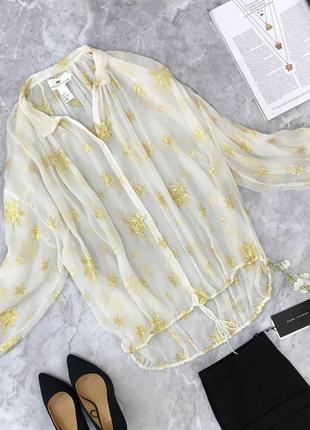 Тонкая блуза oversize с яркими звездами   bl182015  h&m