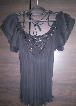 Vila clothes блуза с открытым и плечиками