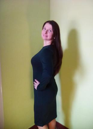 Темно-зеленые платья миди (44,48,50 размеры)/сукні