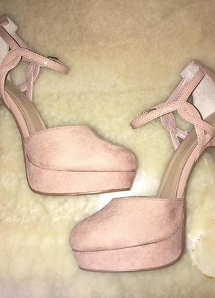 Бежевые каблуки туфли asos