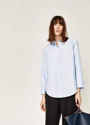 Рубашка с жемчугом zara