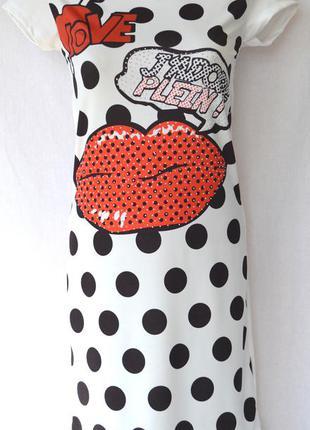 Платье губы, philipp plein  размер: l 46/48