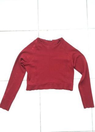 Красная вишневая кофта джемпер пуловер топ cos