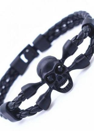 Крутой браслеты в стиле philipp plein. качественный материал. кожа!