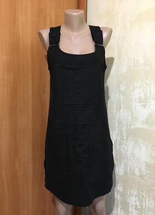 Стильное льняное платье,сарафан!