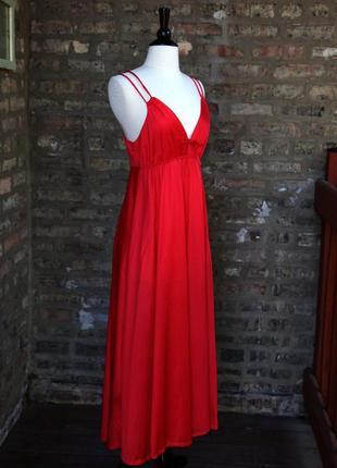 Красное платье-комбинация в бельевом стиле для беременной береме-няшки л, 46