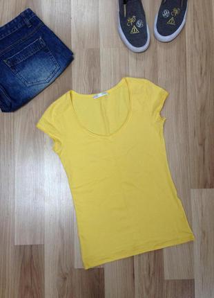 Жёлтая футболка, топ хс-с