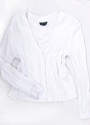 Укороченная рубашка блуза topshop