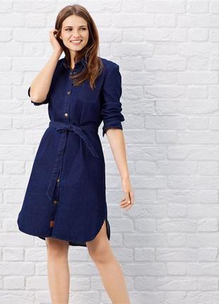 Джинсовое платье рубашка р. 52-54
