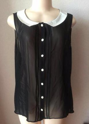 Актуальная чёрная блуза размер 50