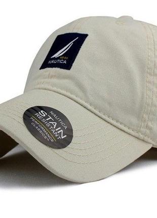 Кепка бейсболка nautica. качество! лого. стильная кепка. модная бейсболка.