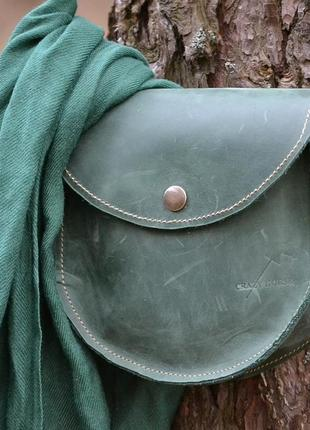 Оригинальная сумочка из натуральной кожи crazy horse