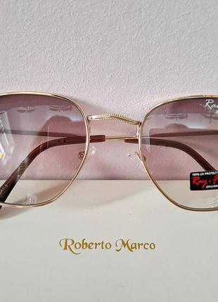 Стильные трендовые овальные очки ray flector