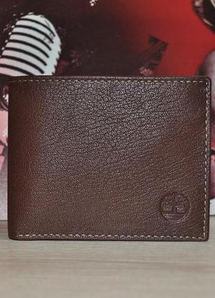 Кожаный кошелек timberland оригинал, brown d10218/01