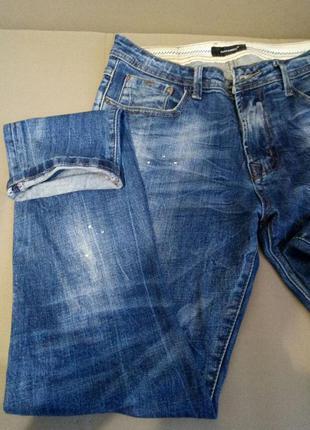 Стильные мужские джинсы (ляпки под краску)